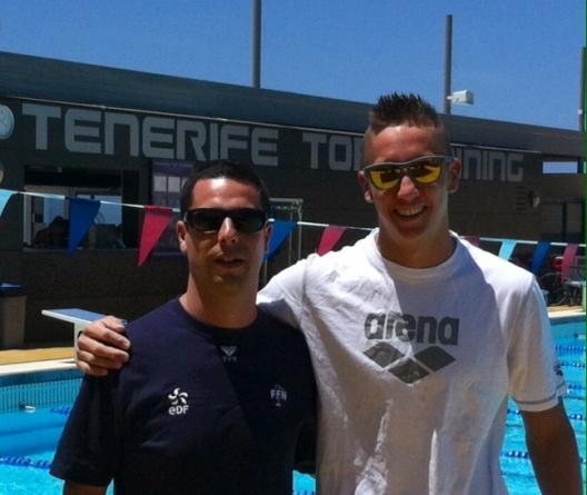 Jordan Pothain et Guy La Rocca au rassemblement de l'équipe de France à Biarritz