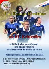 Une équipe féminine au FC Échirolles