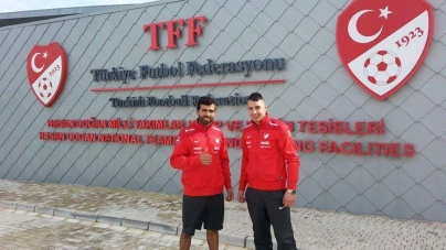 Mikail Gultekin et Kamil Yayla avec la sélection turque
