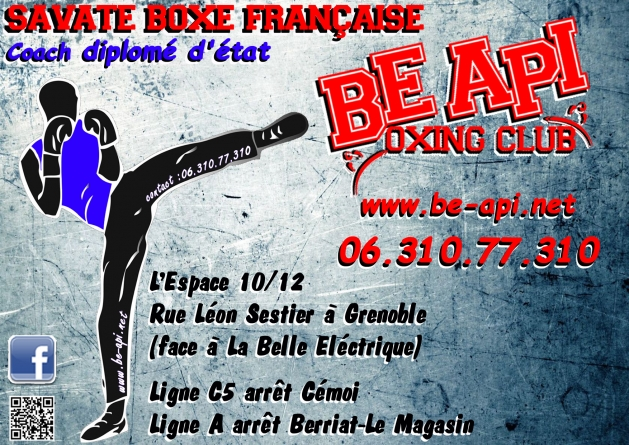 Be Api Boxing Club : planning des entraînements