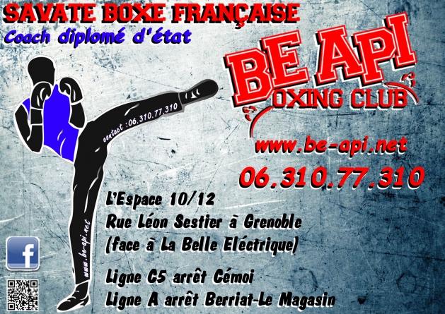 Be Api Boxing Club : planning des entraînements